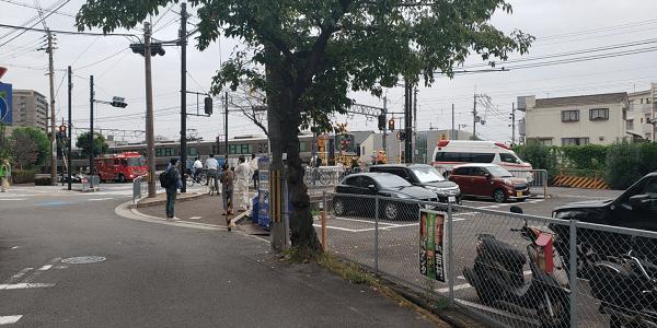 JR京都線の摂津富田駅~総持寺駅で人身事故