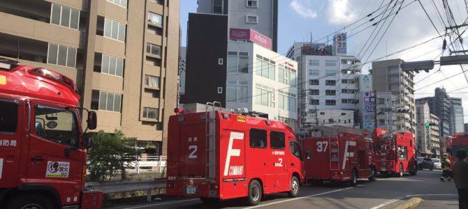 福岡県福岡市中央区薬院の共同住宅で有毒ガスが発生