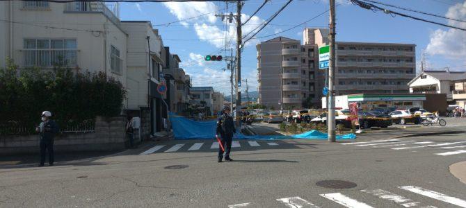 兵庫県尼崎市稲葉元町のコンビニの駐車場で発砲事件