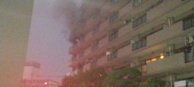 東京都墨田区横川のマンションで大規模な火事
