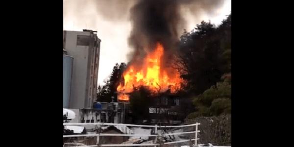 長野県山ノ内町の旅館「よろづや」で大規模な火事
